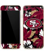 San Francisco 49ers Tropical Print iPhone 6/6s Skin