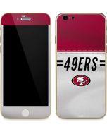 San Francisco 49ers White Striped iPhone 6/6s Skin