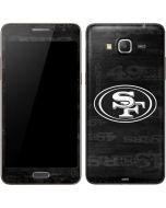 San Franciso 49ers Black & White Galaxy Grand Prime Skin