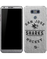 San Jose Sharks Black Text LG G6 Skin