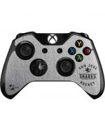 San Jose Sharks Black Text Xbox One Controller Skin