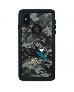 San Jose Sharks Camo iPhone XS Waterproof Case