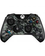 San Jose Sharks Camo Xbox One Controller Skin