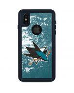 San Jose Sharks Frozen iPhone XS Waterproof Case