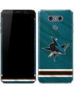 San Jose Sharks Home Jersey LG G6 Skin