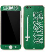 Saudi Arabia Flag Distressed iPhone 6/6s Skin