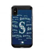 Seattle Mariners - Cap Logo Blast iPhone XS Max Cargo Case