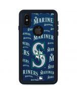 Seattle Mariners - Cap Logo Blast iPhone XS Waterproof Case
