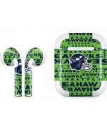 Seattle Seahawks - Blast Green Apple AirPods 2 Skin