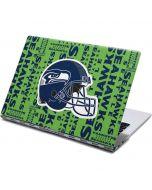 Seattle Seahawks - Blast Green Yoga 910 2-in-1 14in Touch-Screen Skin