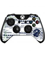 Seattle Seahawks - Blast White Xbox One Controller Skin