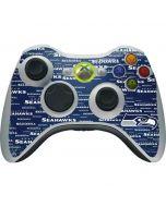 Seattle Seahawks Blue Blast Xbox 360 Wireless Controller Skin