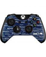 Seattle Seahawks Blue Blast Xbox One Controller Skin