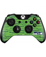 Seattle Seahawks Green Blast Xbox One Controller Skin