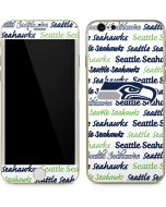 Seattle Seahawks Print iPhone 6/6s Skin