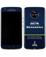 Seattle Seahawks Super Bowl XLVIII Moto X4 Skin