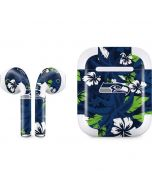 Seattle Seahawks Tropical Print Apple AirPods 2 Skin