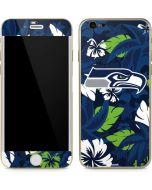 Seattle Seahawks Tropical Print iPhone 6/6s Skin