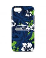 Seattle Seahawks Tropical Print iPhone 8 Pro Case