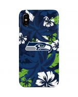 Seattle Seahawks Tropical Print iPhone XS Max Lite Case