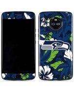Seattle Seahawks Tropical Print Moto X4 Skin