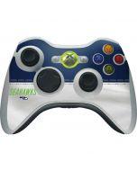 Seattle Seahawks White Striped Xbox 360 Wireless Controller Skin