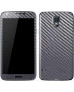 Silver Carbon Fiber Galaxy S5 Skin