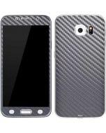 Silver Carbon Fiber Galaxy S6 Skin