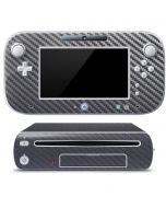 Silver Carbon Fiber Wii U (Console + 1 Controller) Skin