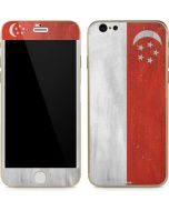 Singapore Flag Distressed iPhone 6/6s Skin