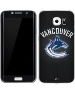 Vancouver Canucks Black Background Galaxy S6 Edge Skin