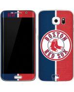 Boston Red Sox Split Galaxy S6 Edge Skin
