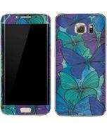 California Watercolor Butterflies Galaxy S7 Edge Skin