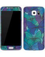 California Watercolor Butterflies Galaxy S7 Skin
