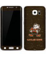 Cleveland Browns Alternate Distressed Galaxy S6 Edge Skin
