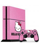 Hello Kitty Face Pink PS4 Console and Controller Bundle Skin