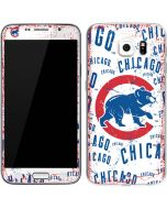 Chicago Cubs - White Cap Logo Blast Galaxy S6 Skin