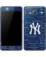 New York Yankees - Cap Logo Blast Galaxy Grand Prime Skin