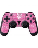 San Francisco Giants - Pink Cap Logo Blast PS4 Controller Skin
