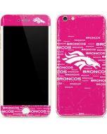 Denver Broncos Pink Blast iPhone 6/6s Plus Skin
