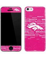 Denver Broncos Pink Blast iPhone 5c Skin