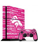 Denver Broncos Pink Blast PS4 Console and Controller Bundle Skin