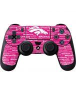 Denver Broncos Pink Blast PS4 Controller Skin