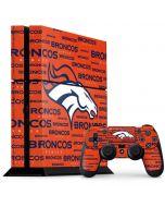 Denver Broncos Orange Blast PS4 Console and Controller Bundle Skin