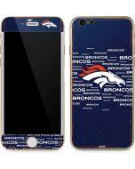 Denver Broncos Blue Blast iPhone 6/6s Skin