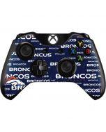 Denver Broncos Blue Blast Xbox One Controller Skin