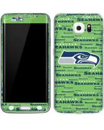 Seattle Seahawks Green Blast Galaxy S6 Edge Skin