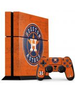 Houston Astros Distressed PS4 Console and Controller Bundle Skin