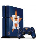 Houston Astros Alternate Distressed PS4 Console and Controller Bundle Skin