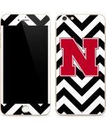 Nebraska Black Chevron Print iPhone 6/6s Plus Skin